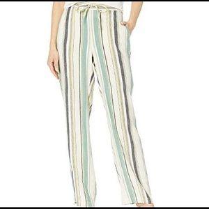Vince Camuto Drawstring Waist Twill Stripe Pants